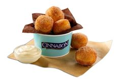 Bite-size #CinnaSweeties are small #doughnut balls tossed in sugar and Makara #cinnamon and are now available at Cinnabon. Courtesy #Cinnabon