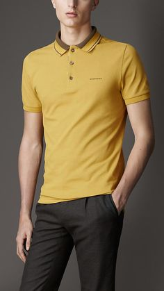 Striped Collar Polo Shirt | Burberry