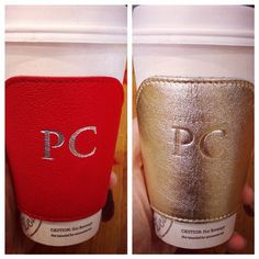 Loving my monogrammed leather coffee cozies - great stocking stuffer! And it really keeps your hands warm http://rstyle.me/n/rb67rnyg6