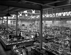 1928 interior of the North Avenue Market from the Baltimore Museum of Industry.