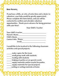 Kindergarten Kids At Play Chaperone Letter Teaching