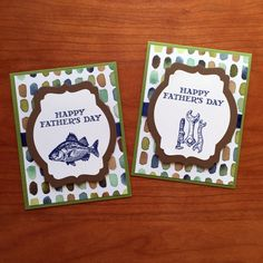 father's day cards, stampcandy.net, Stampin' Up!, Guy Greetings stamp set, By the Tide stamp set, English Garden DSP, Deco Labels Framelits dies