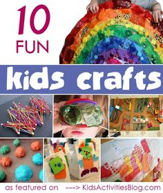 {Fun} Kids Craft Ideas - tons of colorful ideas for simple crafts to do with your kids.