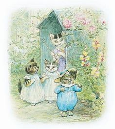 """""""Once upon a time there were three little kittens, and their names were. Mittens, Tom Kitten, and Moppet."""" Born today in 1866 author and illustrator Beatrix Potter...Posted July 28,2014"""