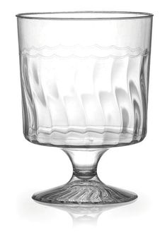Posh Party Supplies - Elegant Plastic 8 oz. Wine Glass , $2.75 (http://www.poshpartysupplies.com/posh-products/plastic-cups-glasses/elegant-plastic-8-oz-wine-glass/)