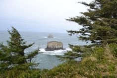 viewpoint from the Cape Meare's Lighthouse along the oregon coast