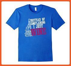Mens Wine Lover Gift T-shirt - Instead of Complaining I Just Wine Large Royal Blue - Food and drink shirts (*Partner-Link)