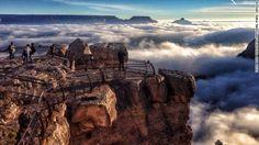 グランドキャニオンで「逆転層」観測、まるで雲の上の世界