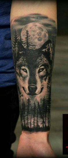 90 Coolest Forearm tattoos designs for Men and Women You Wis.- 90 Coolest Forearm tattoos designs for Men and Women You Wish You Have Forrest tattoo designs and ideas - Wolf Tattoos, Native Tattoos, Animal Tattoos, Black Tattoos, Inner Forearm Tattoo, Cool Forearm Tattoos, Forearm Tattoo Design, Wolf Tattoo Design, Model Tattoos