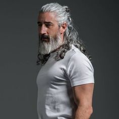 40 Amazing Silver Fox Hairstyles For Men Men Wear Today Haircuts is part of Trending hairstyles for men - Grey Hair Men, Long Gray Hair, Men With Long Hair, Beard Styles For Men, Hair And Beard Styles, Long Hair Styles, Jack Foley, Trending Hairstyles For Men, Hairstyles Men