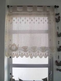 Resultado de imagem para paps de croche de cortinas para cozinha