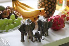 Kids jungleparty with fruits and elefants - Lasten viidakkojuhlat, hedelmätarjoilu, Ruoka.fi