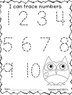 Back to School Assessments (Kindergarten- Owl Themed) Shape Worksheets For Preschool, Free Kindergarten Worksheets, Preschool Writing, Numbers Preschool, Tracing Worksheets, Preschool Classroom, Preschool Printables, Daycare Curriculum, Shapes Worksheets