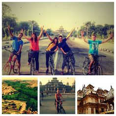 Paddle along early in the morning on this cycling tour in Jaipur as you pass through vibrant streets and temples. Get a real experience of lively streets of Muslim area and admire the fine Albert Hall Museum. This tour is filled with stories from the past to its modern times. Look closely at the Art Deco Raj Mandir cinema and marble carver's market filled with creativity.   The tour covers various attractions like Ramganj Chaupar (Karnot Mahal Hotel), Ghat Gate, Muslim district, fruit… Cycling Tours, Modern Times, Walking Tour, Jaipur, Temples, Paddle, Muslim, Gate, Tourism