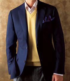 Paul Stuart cashmere two-button blazer