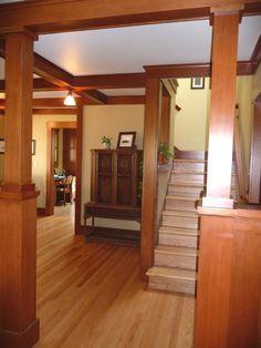 Craftsman style interiors on pinterest craftsman style for Modern craftsman interiors