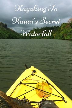 Our first kayaking experience. Exploring the Secret Waterfall in the beautiful unspoilt paradise of Kauai, Hawaii.