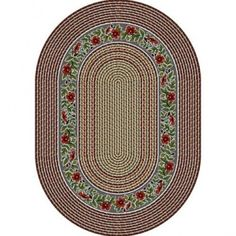 Milliken Braid Impressions Springtime Braid Light Lapis Oval Rug - 4752/2700