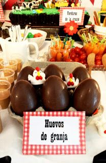 Dulces :: Farm Party chocolate eggs