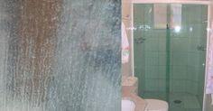 Como tirar as manchinhas brancas do vidro do box do banheiro - Arteblog