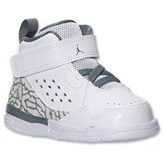 Boys' Toddler Jordan Flight SC-3 Basketball Shoes| Finish Line | White/Cool Grey. Switch up laces Baby Boy Shoes, Toddler Shoes, Baby Jordans, Cute Baby Clothes, Mom And Dad, Basketball Shoes, Boys, Sneakers, Leather
