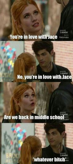 Clary and Alec