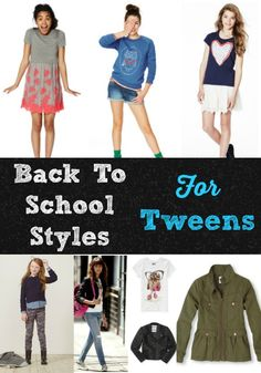 There are lots of bright, fun stylesfor tween girls for back-to-school. Fun trends that your tween will love like skater skirts, printed jeans and fun accessories.