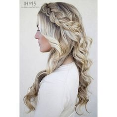 12 Pretty Braided Crown Hairstyle Tutorials and Ideas via Polyvore featuring beauty products, haircare, hair styling tools and hair