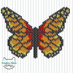 Merci pour l'accueil que vous avez réservé au papillon, c'est super gentil. Et comme d'habitude, le diagramme! #jenfiledesperlesetjassume #miyukibeads #miyuki #beadwork #beadwork #diagrammeperles #perleaddict #papillon #butterfly #bug #insecte #brickstitch #motifpauline_eline