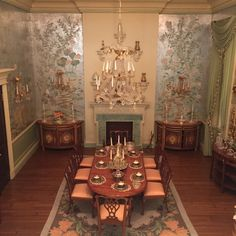 """arthunny: """"an anonymous donor gave my school a $50,000 doll house, which is an exact replica of someone's real house, down to the silverware. here are some of the rooms (including the wine cellar) """""""