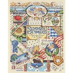 Janlynn Summer Sampler Counted Cross Stitch Kit