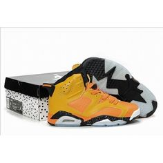 Air Jordan 6 VI Retro Men 2012 Olympic Yellow/Orange/Black Shoes $59.50 Low