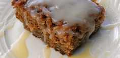 Apple Pudding with Vanilla Butter Sauce