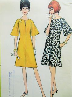 Vintage McCall's 8184 Sewing Pattern, 1960s Dress Pattern, Bust 32, 1960s Sewing Pattern, Bell Sleeves, A Line Dress, VIntage Sewing, 60s by sewbettyanddot on Etsy