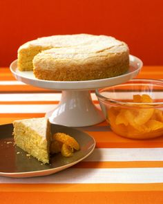 This orange-flavored cake has white wine in the batter.