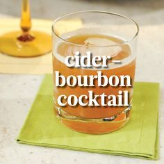 Cider-Bourbon Cocktail | Martha Stewart Living - TV chef Thomas Joseph made this fall cocktail using Michter's, one of his favorite bourbons.