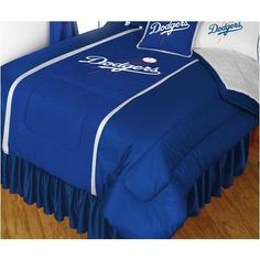 MLB L.a Dodgers Comforter Pillow case Baseball Bed - http://www.freetimebonanza.com/?product=mlb-los-angeles-dodgers-comforter-pillowcase-baseball-bed-3