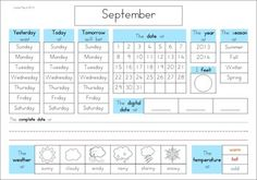 dcf work calendar Calendar and Weather Journal | Weather, Journal and School