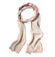Natural Washed Linen Scarf With Red Edges by Apolis - scarves - personal accessories
