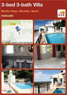 3-bed 3-bath Villa in Monte Pego, Alicante, Spain ►€240,000 #PropertyForSaleInSpain