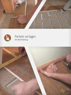 Eine Art Parkett zu verlegen ist die Teilverklebung. Diese Anleitung zeigt wie Parkett im Stock mit Trittschalldämmung verlegt werden kann.
