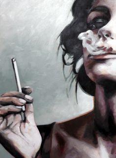 Smoking girls by Thomas Saliot