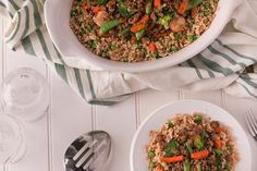 The colours alone could knock this one out of the park, but the sweet, savoury and somewhat exotic flavours carry it the extra mile. This is a fantastic dish for any occasion, any time of year. Kid Friendly Dinner, Kid Friendly Meals, Frozen Vegetables, Veggies, Stir Fry Ingredients, Skillet Cooking, Beef Stir Fry, Frozen Peas, Ground Beef Recipes