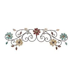 Olivia Floral Metal Plaque | Kirklands... two of these on top of one another... what do you think?