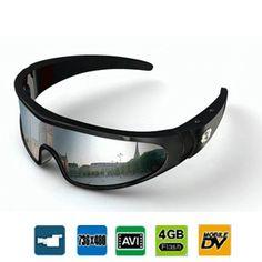 Caméra cachée avec DVR dans une lunette de soleil - 5 mégapixels - 4 Go interne