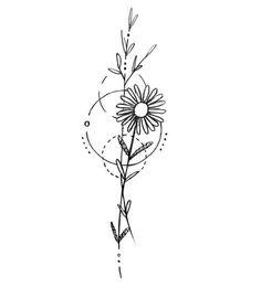 Minimalist tattoos sunflower & minimalistische tätowierungssonnenblume & tatouages minimalistes tournesol & tatuajes minimalistas girasol & minimalist tattoos meaning, minimalist tattoos small, minimalist tattoos flower, minimalist tattoos back Cute Tattoos, Leaf Tattoos, Body Art Tattoos, Small Tattoos, Sleeve Tattoos, Tatoos, Tattoo Art, Small Daisy Tattoo, Shape Tattoo