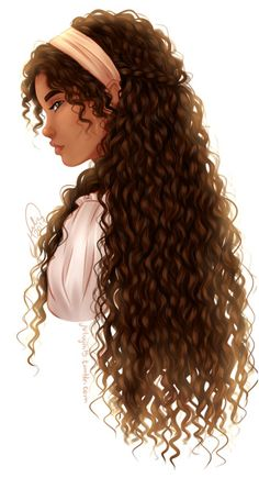 Ideas For Curly Hair Girl Painting Black Girl Cartoon, Cartoon Girl Drawing, Black Love Art, Black Girl Art, Curly Hair Drawing, Anime Curly Hair, Hair Sketch, Painting Of Girl, Digital Art Girl