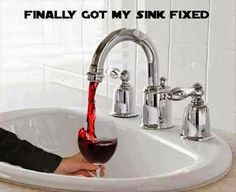 Wine sink: I'd like Sauvignon Blanc to come out of cold and Malbec out of the warm.