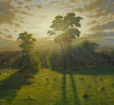 Create light filled landscapes with Mark Waller's acrylic painting tutorial page.