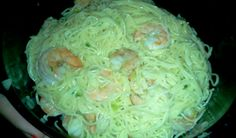Shrimp scampi made in the stack cooker my favorite piece of tupperware